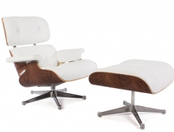 Image of the design lounge Premium Eames Lounge chair - Walnut