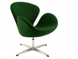 Image of the design lounge Swan chair Arne Jacobsen - Green