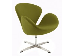 Image of the design lounge Swan chair Arne Jacobsen - Olive green