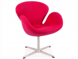 Image of the design lounge Swan chair Arne Jacobsen - Pink
