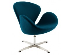 Image of the design lounge Swan chair Arne Jacobsen - Royal blue