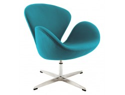 Image of the design lounge Swan chair Arne Jacobsen - Turquoise