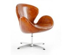 Image of the design lounge Swan chair Arne Jacobsen - Vintage brown