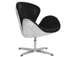 Image of the design lounge Swan Spitfire chair AJ - Black