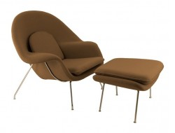 Image of the design lounge Womb chair - Chocolate brown