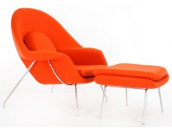 Image of the design lounge Womb chair - Dark orange
