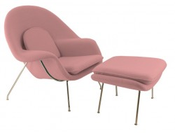 Image of the design lounge Womb chair - Light pink