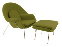 Image of the design lounge Womb chair - Olive green