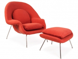 Image of the design lounge Womb chair - Orange