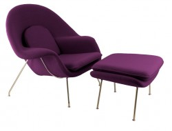 Image of the design lounge Womb chair - Purple