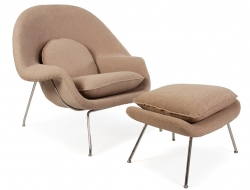 Image of the design lounge Womb chair - Sand