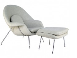 Image of the design lounge Womb chair - White cream