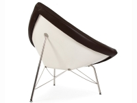 Image of the design lounge Coconut chair Nelson - Brown