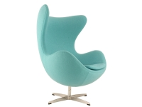 Image of the design lounge Egg Chair AJ - Turqoise