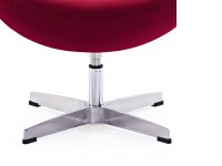 Image of the design lounge Egg Ottoman Arne COSYSEN - Red