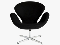 Image of the design lounge Swan chair Arne COSYSEN - Black