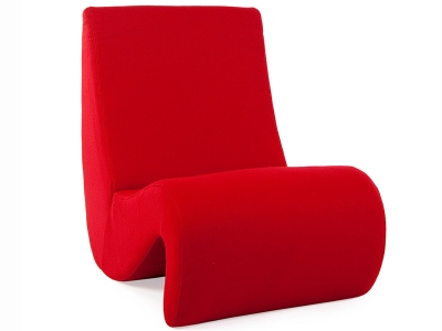 Image of the design lounge Arm Chair Panton Amoebe  - Red