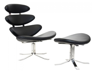 Image of the design lounge Corona Chair PK - Black