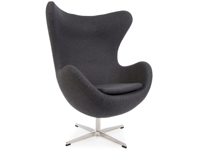 Image of the design lounge Egg Chair AJ - Dark grey