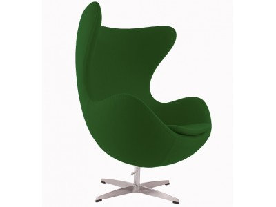 Image of the design lounge Egg Chair AJ - Green