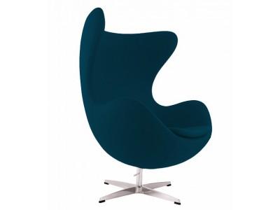 Image of the design lounge Egg Chair AJ - Royal blue
