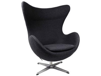 Image of the design lounge Egg Chair Arne Jacobsen - Black