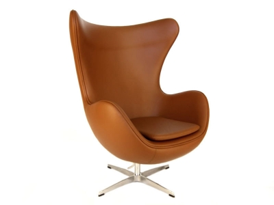 Image of the design lounge Egg Chair  Arne Jacobsen - Caramel