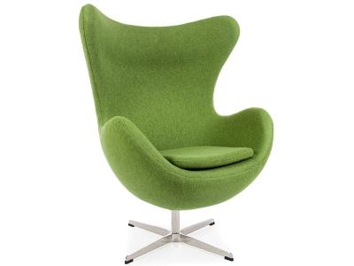 Image of the design lounge Egg Chair Arne Jacobsen - Green