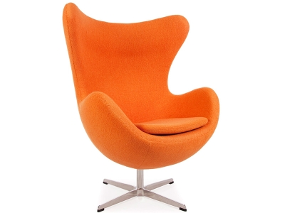 Image of the design lounge Egg Chair Arne Jacobsen - Orange