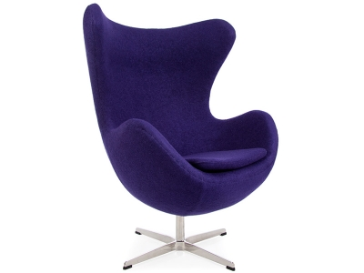 Image of the design lounge Egg Chair Arne Jacobsen - Purple
