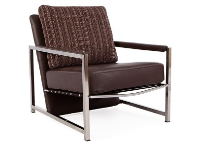 Image of the design lounge Grace armchair - Brown