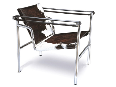 Image of the design lounge LC1 chair Le Corbusier - Pony brown