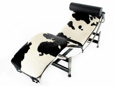 Image of the design lounge LC4 Daybed - Pony black/white