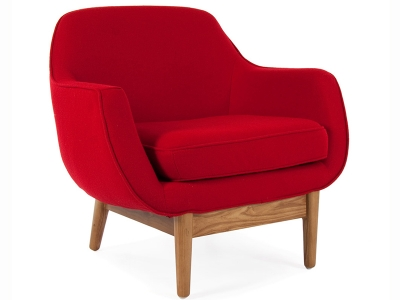 Image of the design lounge Lusk armchair - Red