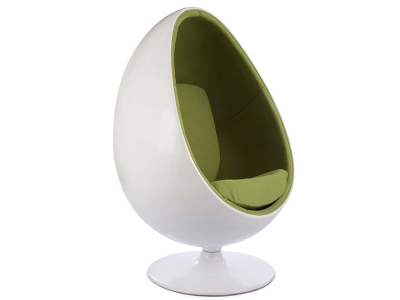 Image of the design lounge Ovale Egg chair - Green