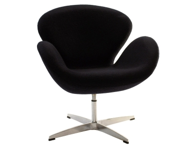 Image of the design lounge Swan chair Arne Jacobsen - Black
