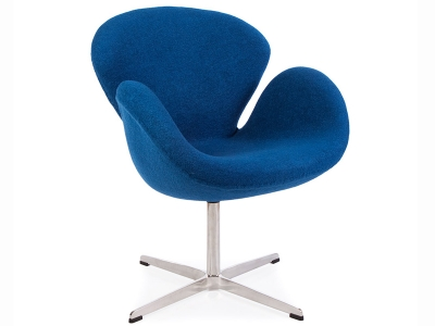 Image of the design lounge Swan chair Arne Jacobsen - Blue