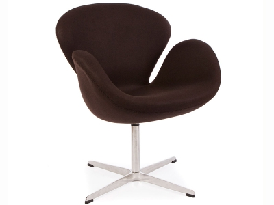 Image of the design lounge Swan chair Arne Jacobsen - Brown