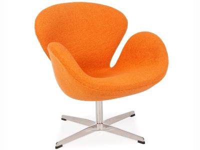 Image of the design lounge Swan chair Arne Jacobsen - Orange