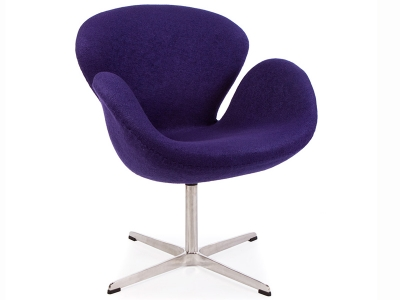 Image of the design lounge Swan chair Arne Jacobsen - Purple