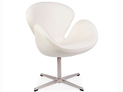 Image of the design lounge Swan chair Arne Jacobsen - White