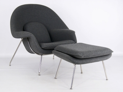 Image of the design lounge Womb chair - Dark grey