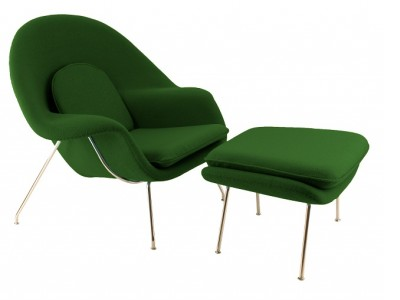 Image of the design lounge Womb chair - Green
