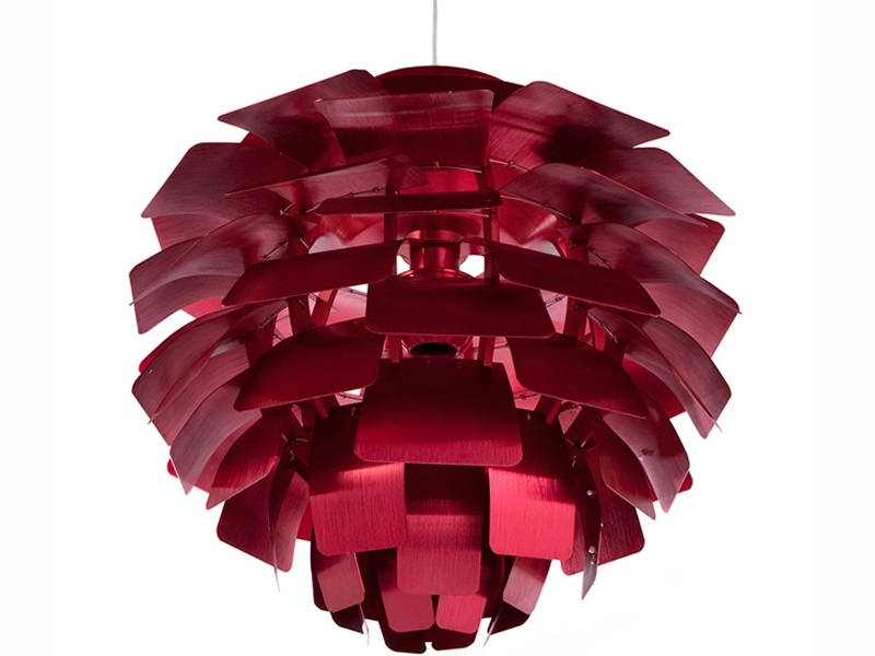 Bild der Lampe Design Hängelampe Artischocke M - Rot