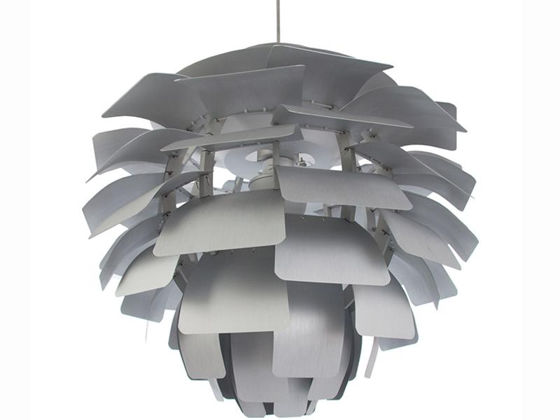 Bild der Lampe Design Hängelampe Artischocke M - Silber