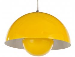 Bild der Lampe Design Hängelampe Panton Flowerpot - Gelb