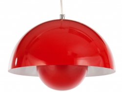 Bild der Lampe Design Hängelampe Panton Flowerpot - Rot