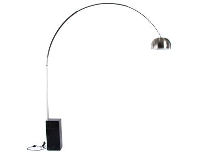 Bild der Lampe Design Arco Stehleuchte - Schwarzem Marmor
