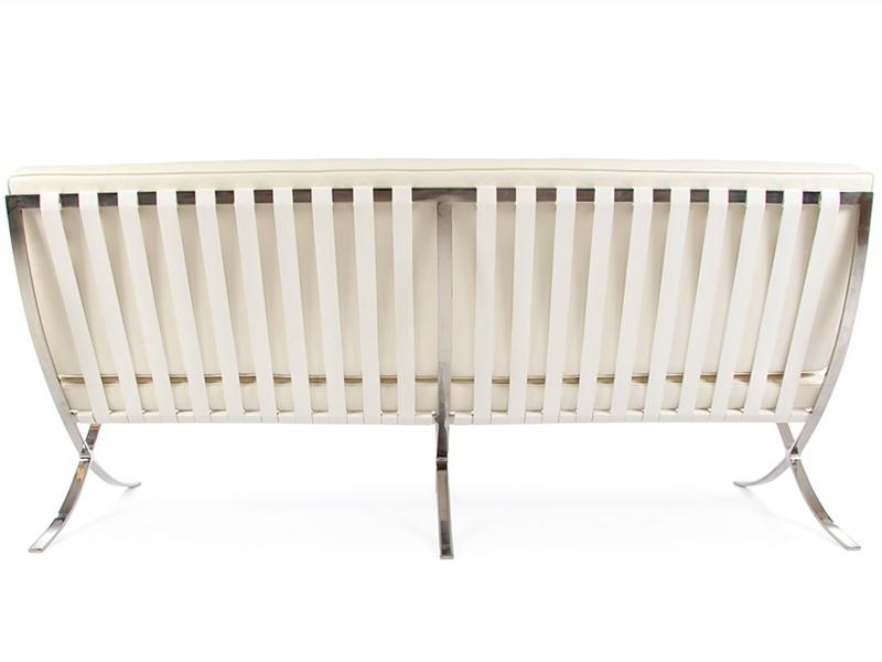 Bild Designer-Möbel Barcelona Sofa 3 Sitzer - Creme