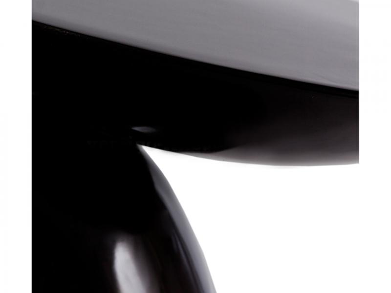 Bild designer möbel beistelltisch parabol schwarz